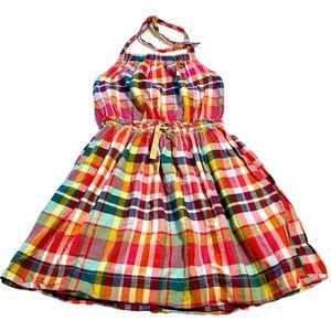 J CREW CREWCUTS Plaid Halter Style Dress